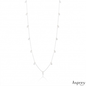 Asprey White Gold Diamond Necklace